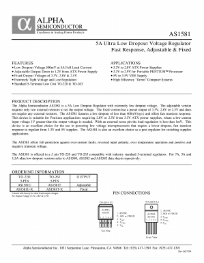 AS1581T Datasheet PDF - Alpha and Omega Semiconductor
