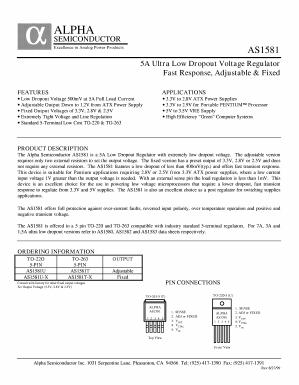 AS1581T Datasheet PDF - Alpha and Omega Semiconductor