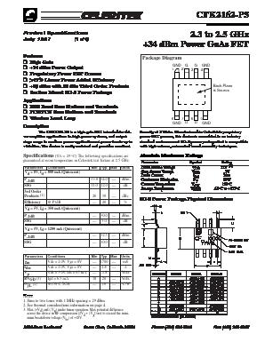 36 dBm Power GaAs FET **NEW** CELERITEK CFH2162-P5  2.3 ~ 2.5GHz