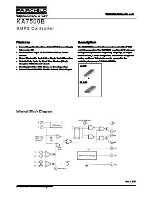 KA7500BD Datasheet PDF - Fairchild Semiconductor