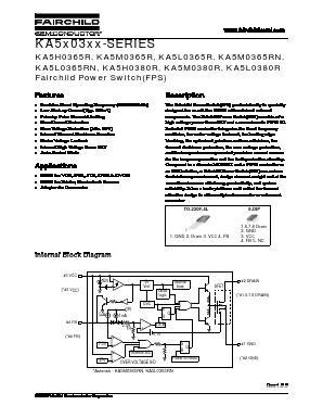 5M0365R PDF 数据手册 , 5M0365R 数据表 -Fairchild