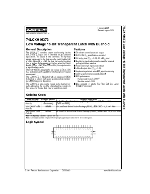 74LCXH16373GX image