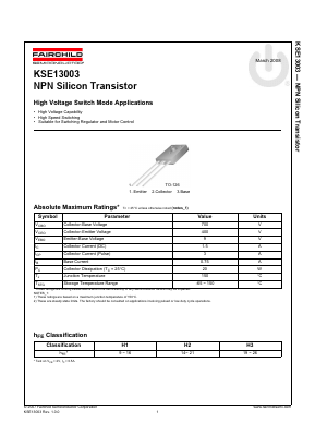 KSE13003TATU image