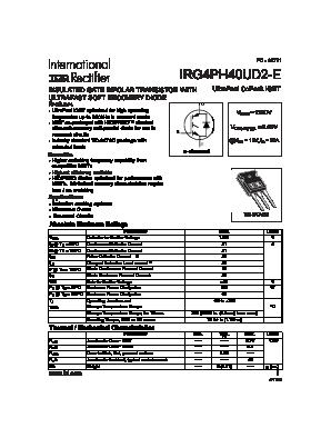 G4PH40UD2-E DATASHEET PDF
