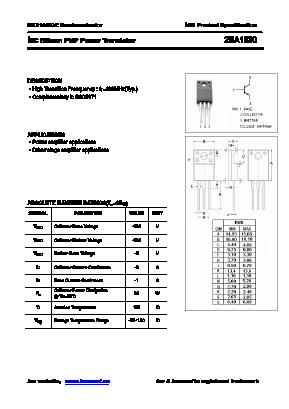 Datasheet) a1930 pdf 2sa1930 toshiba transistor silicon pnp.