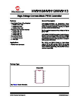 HV9110NG Datasheet PDF - Microchip Technology