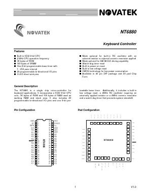 NT6880H Datasheet PDF - Novatek Microelectronics