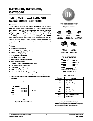 CAT25010ZE Datasheet PDF - ON Semiconductor