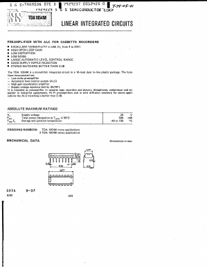 Tda1054m datasheet,datasheets manu page:1==linear integrated.