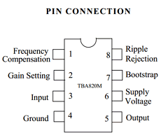 TBA820M PDF, TBA820M Hoja de datos -Tiger Electronic