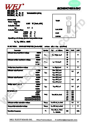 BC547 Datasheet PDF - WEJ ELECTRONIC CO