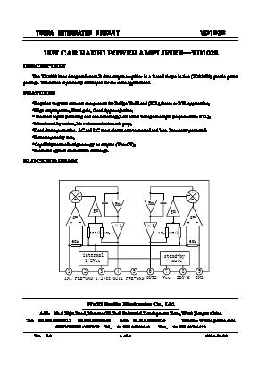 YD1028 Datasheet PDF - Wuxi Youda electronics Co ,LTD